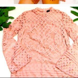 Dresses & Skirts - Crochet Soft Pink dress